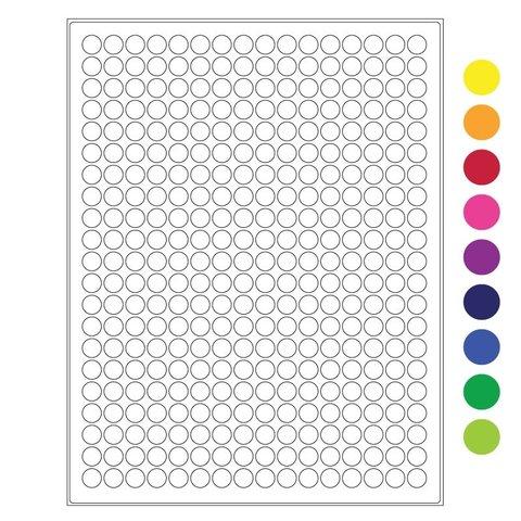 Étiquettes Cryogéniques - Ø 11mm / Format US Letter