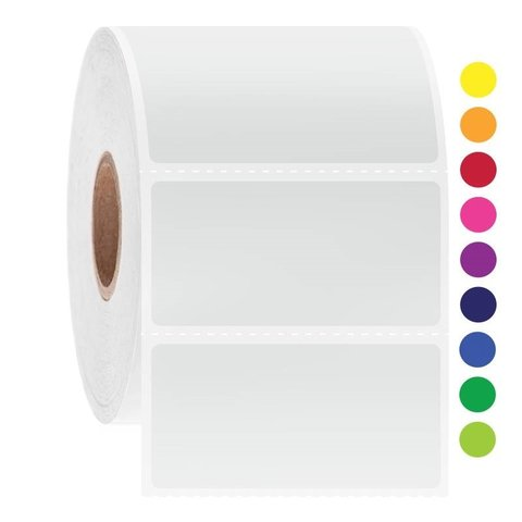 Криогенные Штрих-Код Этикетки - 50,8 x 25,4мм