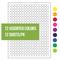 Криогенные Лазерные Етикетки - Ø 11mm / Формат US Letter