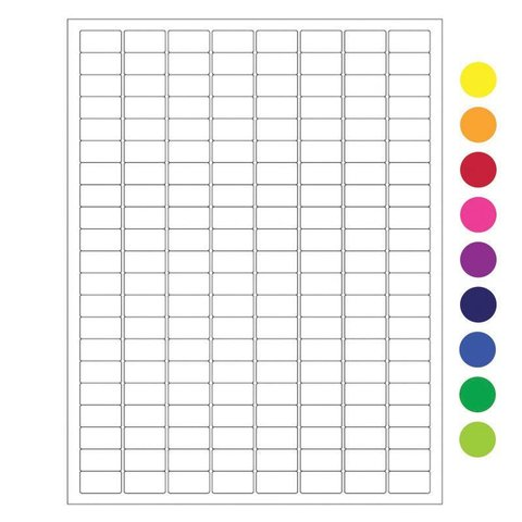 Cryo Labels For Laser Printers - 23.9 x 12.7mm  / Assorted (US Letter Format)