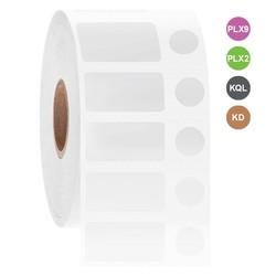 Étiquettes Cryo À Jet D'Encre - 25,4 x 12,7mm + Ø 9,5mm