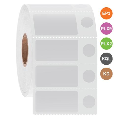 Kryo Etiketten Für InkJet-Drucker - 31,8 x 16mm + Ø 9,5mm