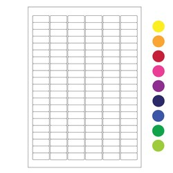 Криогенные лазерные этикетки 31,5 x 13мм (формат А4)