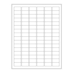 Cryo Labels For Laser Printers - 30.5 x 16mm (US Letter Format)