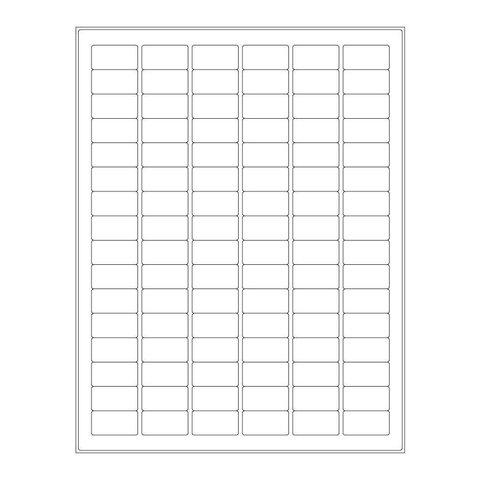 Étiquettes Cryogéniques - 30,5 x 16mm Pour Imprimantes Laser (Format US Letter)