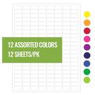 Криогенные Лазерные Етикетки - 23,9 x 12,7mm / Формат US Letter