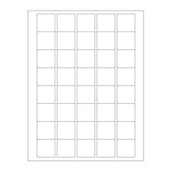 Cryo Labels For Laser Printers - 33 x 33mm (US Letter Format)