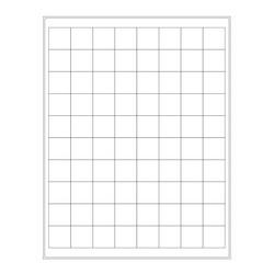 Kryo-Etiketten Auf Bögen - 25,4 x 25,4mm (US-Letter-Format)
