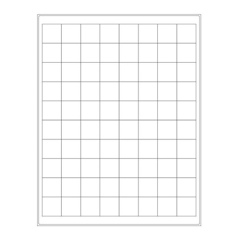Cryo Labels For Laser Printers - 25.4 x 25.4mm (US Letter Format)