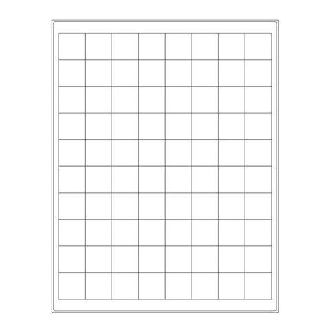 Étiquettes Cryogéniques - 25,4 x 25,4mm Pour Imprimantes Laser (Format US Letter)