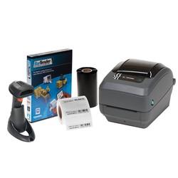 Kennzeichnungssystem Kryo-Halmen-Zebra GX430T Drucker Kit + Scanner