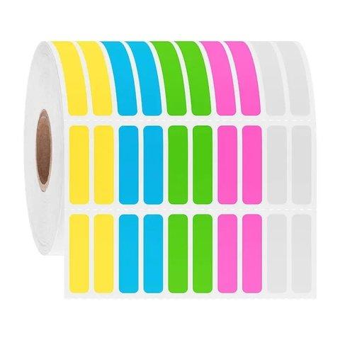 Kryo Barcode Etiketten - 6,35 x 25,4mm / Farbenmix