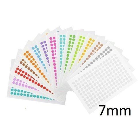 Kryo Farbpunkte - Ø 7mm - Für 0,2ml PCR-Gefäße / Farblich Sortiert