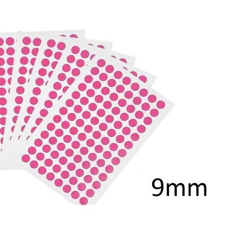 Gekleurde ronde Cryo-etiketten - Ø 9mm (voor 0,5ml & 1,5ml microtubes)