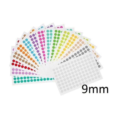 Kryo Farbpunkte - Ø 9mm - Für 0,5ml & 1,5ml Mikroröhrchen / Farblich Sortiert