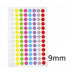 Gekleurde Ronde Cryo-Etiketten Ø 9mm (voor 0,5ml & 1,5ml tubes)*KLEURENMIX*
