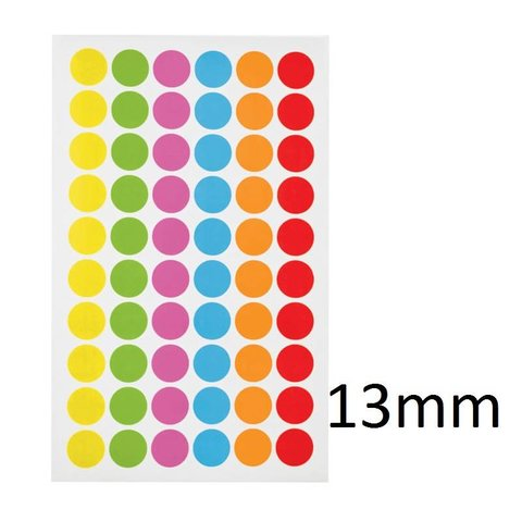 Cryo Color Dots For Microtubes - Ø 13mm (color - mix)