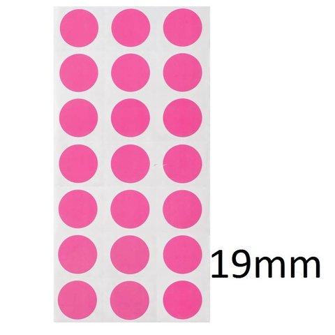 Gekleurde ronde Cryo-etiketten - Ø 19mm (gekleurde stippen)