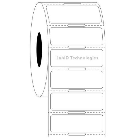 Transparante Cryo Etiketten 38,1 x 12,7mm