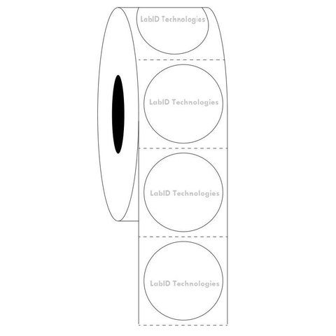 Transparente Kryo-Etiketten Ø 25,4mm