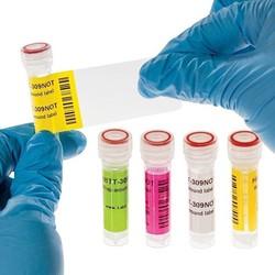 Самоламинирующиеся Криогенные Этикетки 25,4 х 30 + 43мм