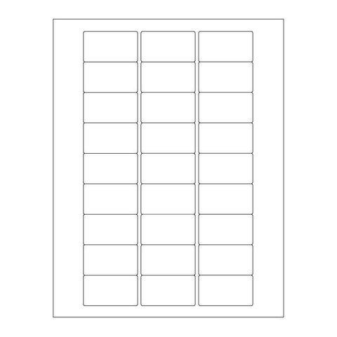 Autoclaaf Labels Voor Laserprinters - 50,8 x 28,57mm / Voor Glaswerk