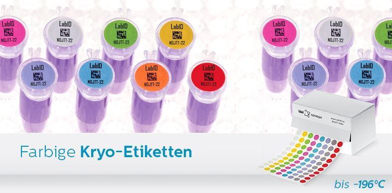 Farbige Kryo-Etiketten
