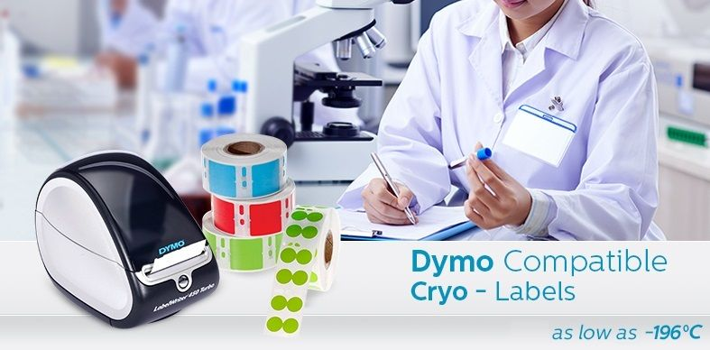 Cryo DYMO Labels (Cryogenic Labels For DYMO Printers)