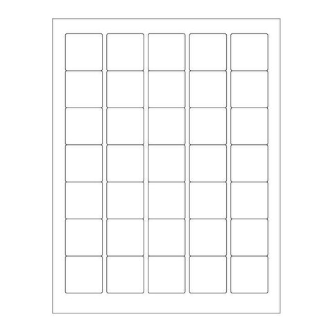 Cryo Labels For Laser Printers - 35 x 35mm (US Letter Format)