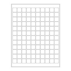 Kryo-Etiketten Auf Bögen - 19,1 x 19,1mm (US-Letter-Format)
