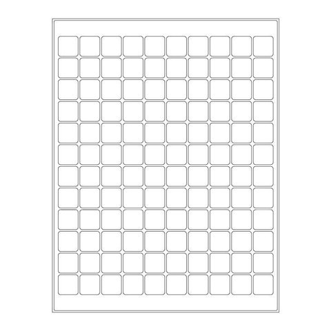 Cryo Labels For Laser Printers - 19.1 x 19.1mm (US Letter Format)