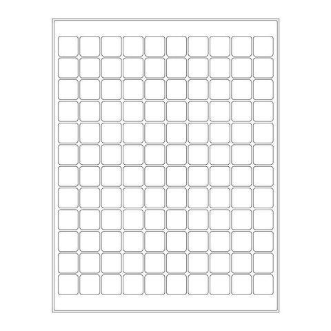 Étiquettes Cryogéniques - 19,1 x 19,1mm Pour Imprimantes Laser (Format US Letter)