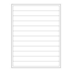 ÉtiquettesCryogéniques Pour Imprimantes Laser - 203,2 x 22,1mm (Format US Letter)