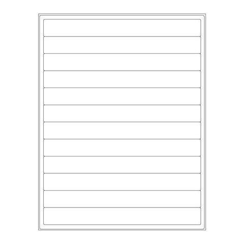 Kryo-Etiketten Auf Bögen - 203,2 x 22,1mm (US-Letter-Format)