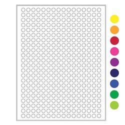 Крио Лазерные этикетки - Ø 9 мм (US размер букв)