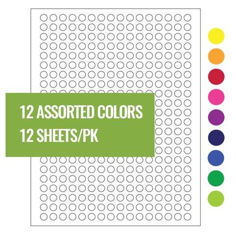 Étiquettes Cryogéniques - Ø 9mm Pour Imprimantes Laser / Couleurs Assorties