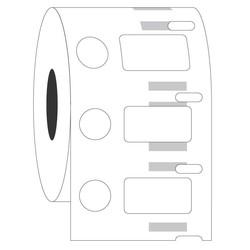 Kryo DYMO Etiketten (Tiefkühl - Etiketten) 23,9 x 12,7 + Ø 11,1mm