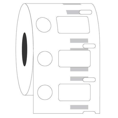 Kryo DYMO Etiketten - 23,9 x 12,7 + Ø 11,1mm / Tiefkühl-Etiketten