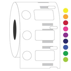 Cryogenic DYMO Compatible Labels 23.9 x 12.7 + Ø 11.1mm