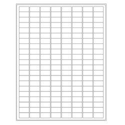 Autoclave Labels For Laser Printers - 23,9 x 12,7mm / Permanent * For Lab Glassware *
