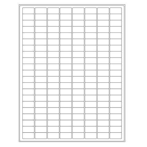Autoclaaf Labels Voor Laserprinters - 23,9 x 12,7mm / Voor Glaswerk