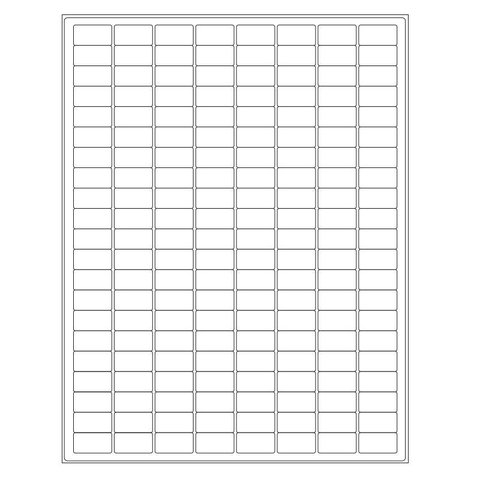 Autoclave Labels For Laser Printers - 23,9 x 12,7mm / For Lab Glassware