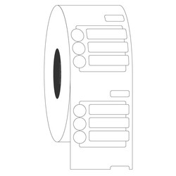 Криогенные DYMO (Димо) Этикетки - 20x5мм + Ø 6,35 мм