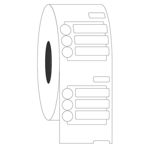Cryo DYMO Labels - 20 x 5mm + Ø 6.35mm