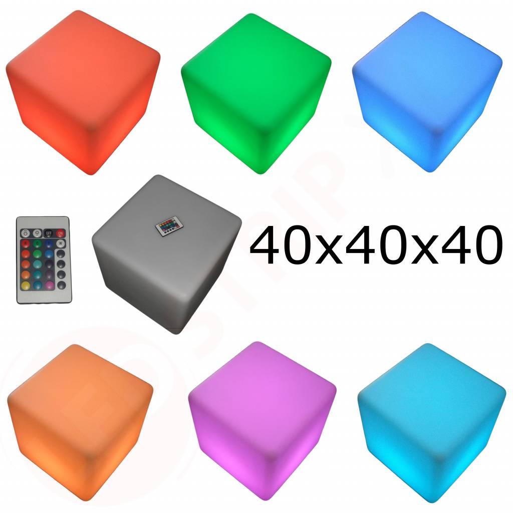Beste LED Kubus oplaadbaar 40cm met RGB Kleuren en Afstandsbediening WZ-99