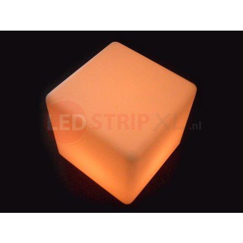 LED Kubus 50CM oplaadbaar met RGB Kleuren en IR Afstandsbediening