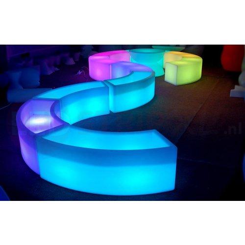 LED Bank 120CM Rond met Zitkussen