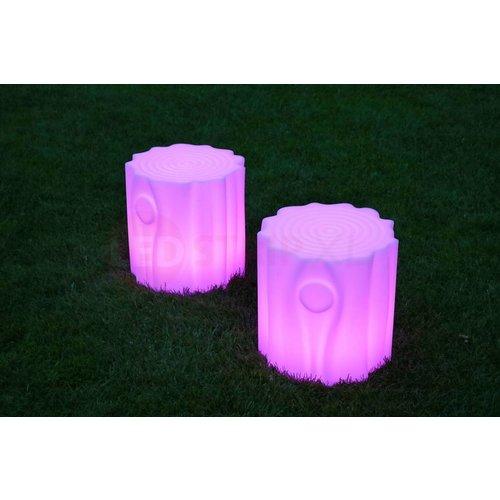LED Stoel Boomstam met Multikleuren