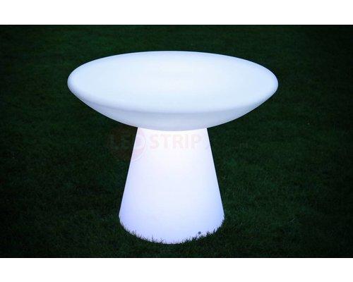 Tafel Rond 90 Cm.Lichtgevende Led Eettafel Rond 90 X 70cm Ledstripxl