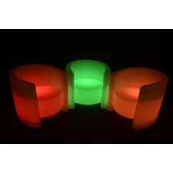 Lichtgevende LED Armstoel Deluxe